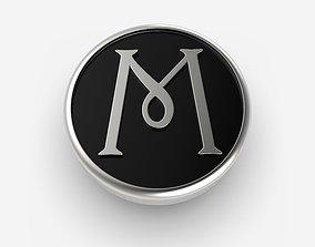 3D printable model Alphabet Latin M
