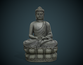 3D asset game-ready Buddha