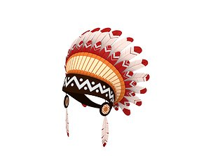 Native American Headdress 3D model