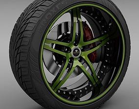 3D Savini Forged SV-10 Wheel and Tire
