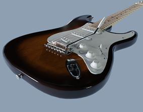 Electric Guitar Fender Stratocaster 3D PBR