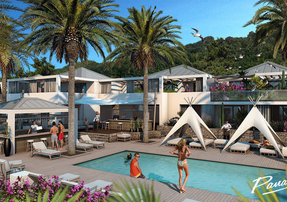 Resort project in St Barthelemy island scene