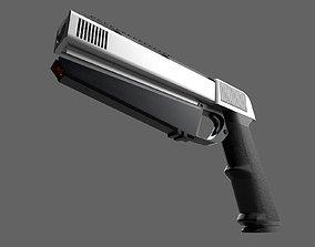 3D asset scifi pistol