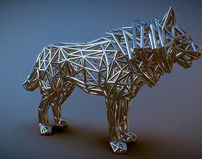 3D printable model White Wolf Standing