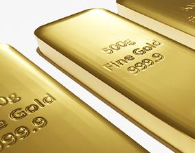 3D model low-poly Gold bar