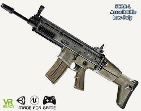 3D asset SCAR-L Assault Rifle