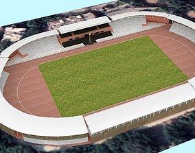 Chhatrasal Stadium Delhi 3D Model low-poly