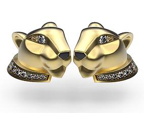 3D print model Earrings Cat In Profile