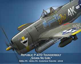 3D model Republic P-47D Thunderbolt - Sigma Nu Girl