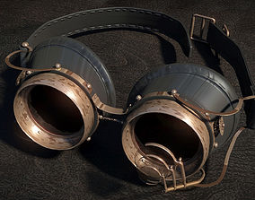 Steam Punk Goggles 3D Model low-poly