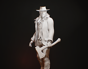 Ganster model for 3D printing tabletop minis and