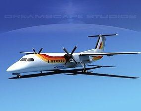 3D DeHavilland DHC-8-Q300 Iberia