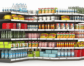 Racks for the store with filling 3D