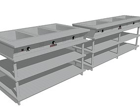 3D model Restaurant Steam Tables - Heated Storage Tables