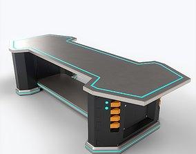 3D model LowPoly Sci-fi Table