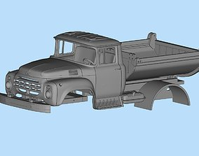All parts are separated Truck ZIL 130 Printable Body 2