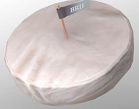 Brie Cheese 3D asset