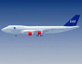 3D Scandinavian Airlines SAS Boeing
