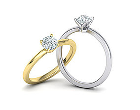 Elegant solitaire ring with 5mm stone claw setting 1