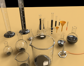 3D model Laboratory Equipment PACK 1 and 2
