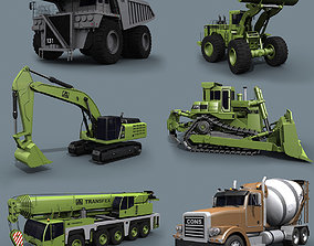 Mighty Mining Pack - 3d animated construction animated