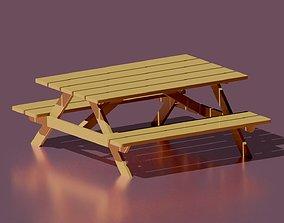 Bench 3D model seat