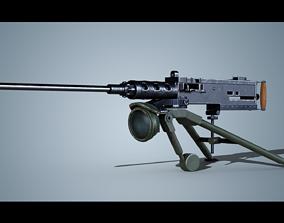 3D model Mounted Machine Gun
