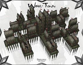 Water-Town 3D model