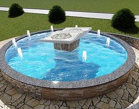 3D model Fountain Quran quran