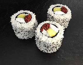3D Sushi hosomaki avocado