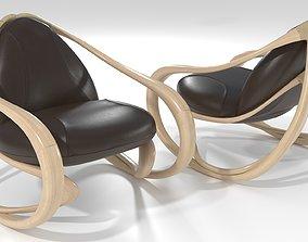 interior Rocking armchair Move-Lw-Brl 3D model