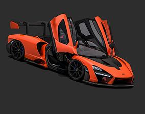 2018 McLaren Senna 3D model