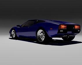 80s design sports coupe 3D model