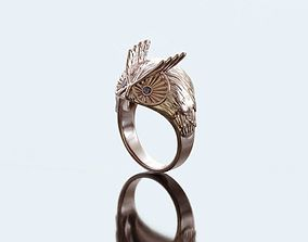 Owl ring jeweler 3D printable model