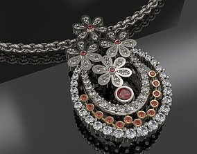 Beautiful Pendant With Diamonds 3D printable model