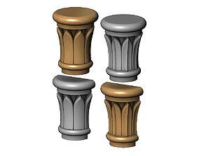 Simple Rose Leaves Column Capital 3D printable model