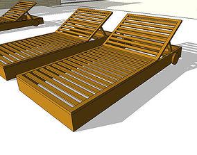 garden-furniture 3D Deckchair