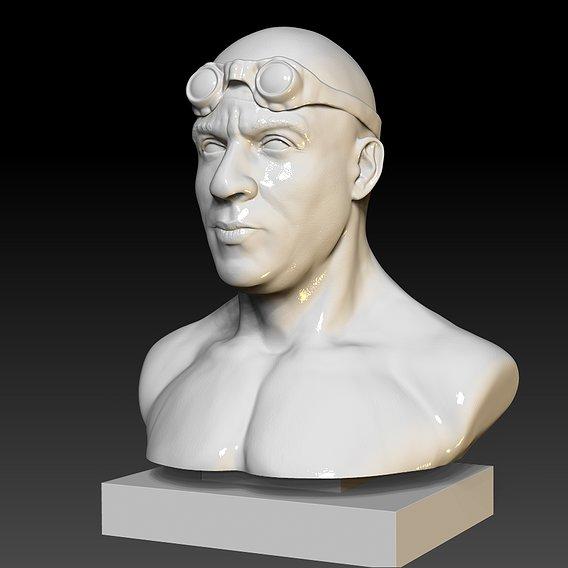 Riddik Vin Diesel 3D