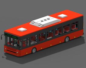 Voxel City Bus 3D model