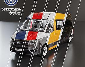 Volkswagen Crafter 6 colours 3D model
