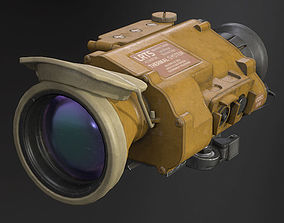 Desert Tan Weapon Thermal Sight 3D model