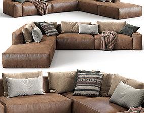 Jesse Leather sofa Daniel composition 3D model