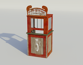 3D model Ticket Booth - Low-poly PBR