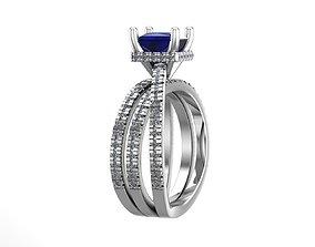 3D printable model Diamond Princess gold rings silver