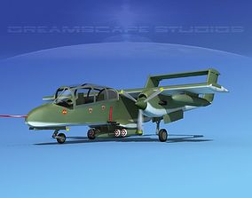 Rockwell OV-10 Bronco US Army 3D model