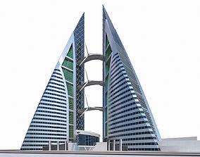 3D asset Bahrain World Trade Center