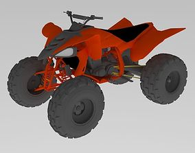 3D model Yamaha 450 Quad