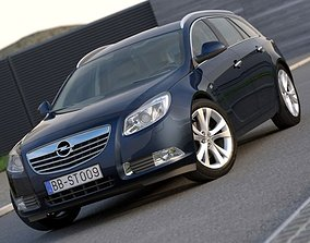 3D model animated Opel Insignia Sports Tourer 2009