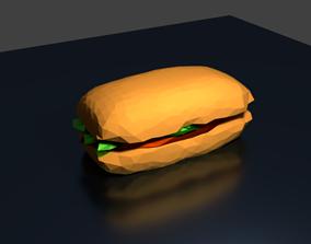 Doner kebab 3D model low-poly