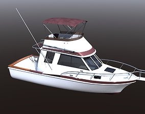 3D model Californian Sportfish Boat